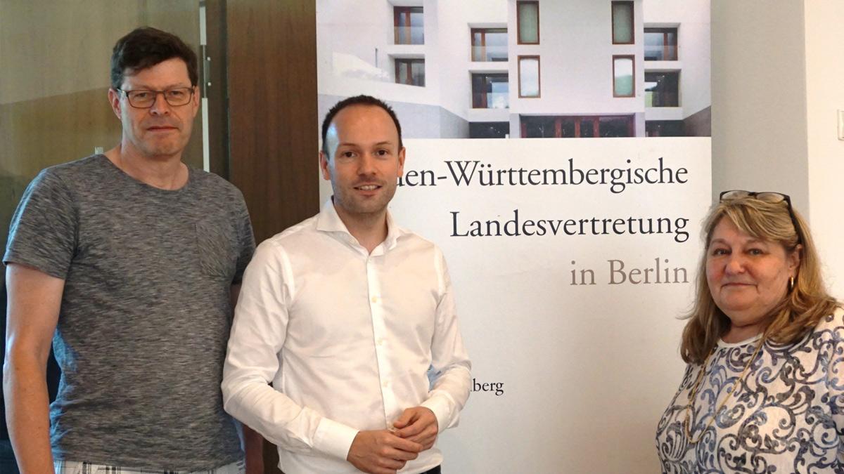 Treffen mit dem Bundestagsabgeordneten Löbel in der baden-württembergischen Landesvertretung
