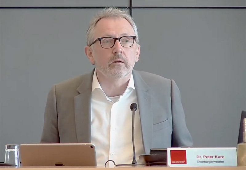 OB Dr. Peter Kurz Gemeinderatssitzung